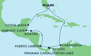 Panama Canal - Miami (MIA/MIA)