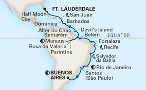 34-DAY GRAND SOUTH AMERICA VOYAGE