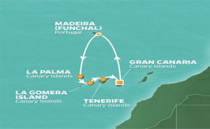 JR 7-NIGHT CANARY ISLANDS INTENSIVE VOYAGE