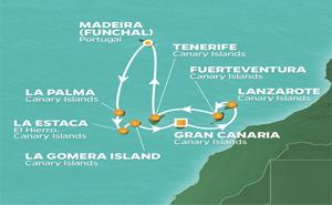 JR 11-NIGHT CANARY ISLANDS HOLIDAY VOYAGE