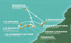 JR 11-NIGHT CANARY ISLANDS INTENSIVE VOYAGE