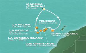 JR 10-NIGHT CANARY ISLANDS INTENSIVE VOYAGE
